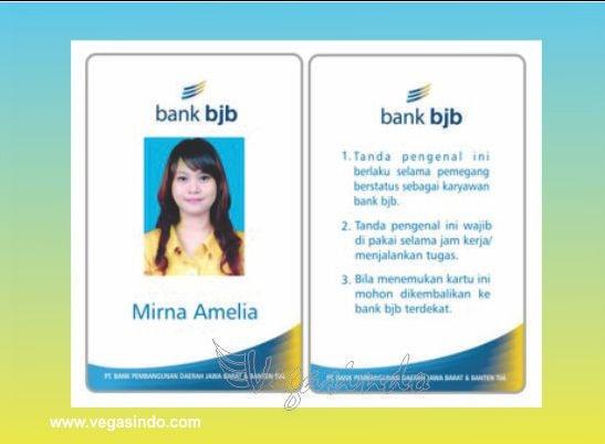 contoh id card karyawan bank bjb