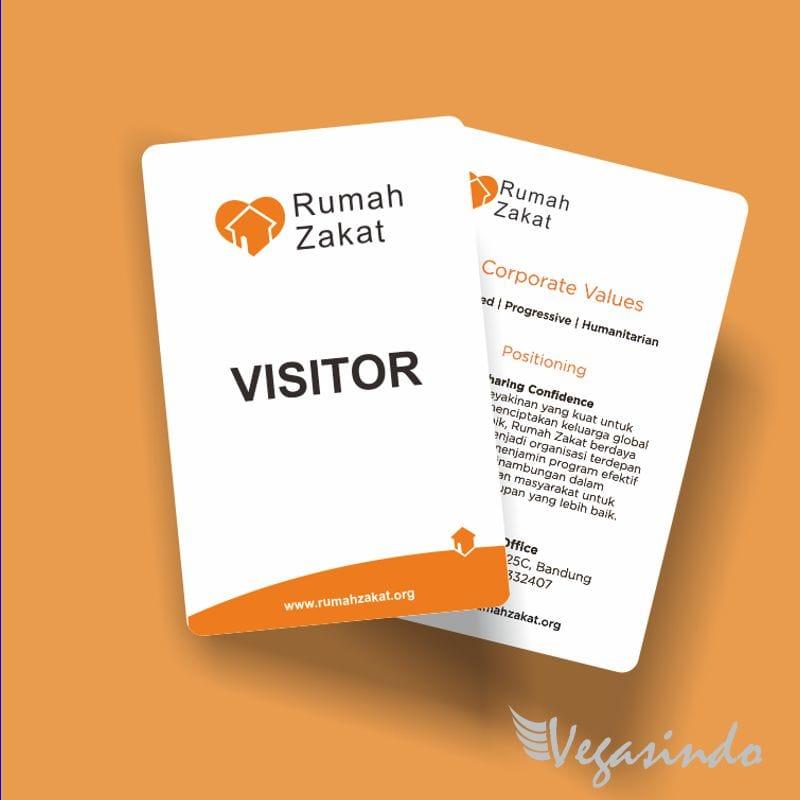 kartu tamu visitor card