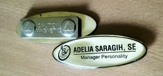 name tag oval